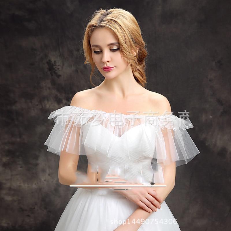 White Wedding Dress Jacket: White Wedding Dress Jacket Free Size Strapless Wedding