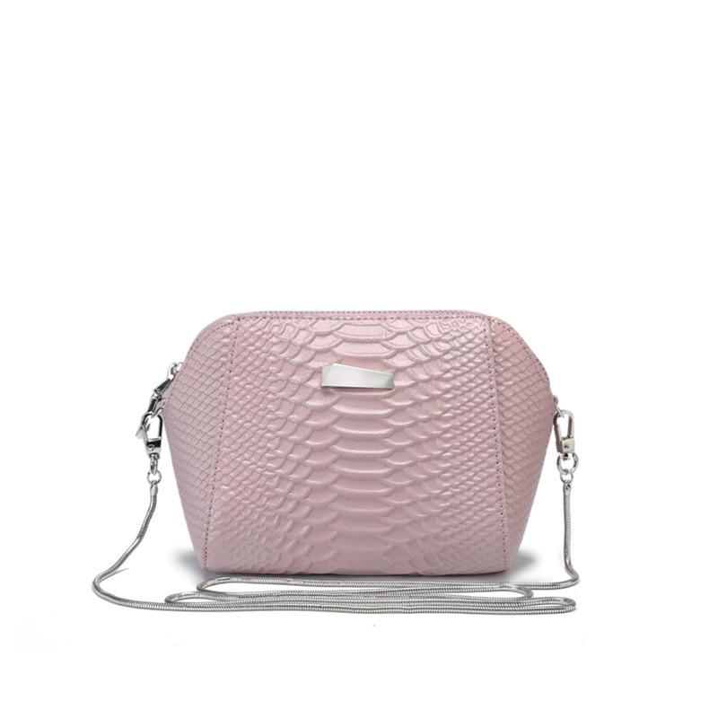 Mini sac de téléphone portable en cuir fendu de Crocodile de haute qualité sac à bandoulière à chaîne Simple petit sac de messager sac à coquille femelle