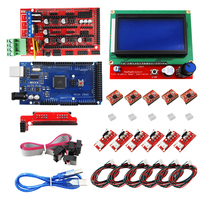 CNC 3D Printer Kit for Mega 2560 R3 + RAMPS 1.4 Controller + LCD 12864 + 6 Limit Switch Endstop + 5 A4988 Stepper Driver