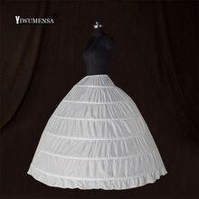 Wholesale 6 Hoops Bridal Wedding Petticoat Marriage Gauze Skirt  Crinoline Underskirt Wedding Accessories Jupon Mariage 2018