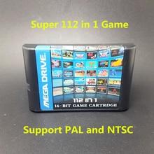 Top 112 in 1 For Sega Megadrive Genesis Game Cartridge with Contra Gunstar Heroes Alien Soldier Streets of Rage Sonic Golden Axe