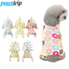 pawstrip Cute Print Small Dog Pajamas Pet Clothes Puppy Jumpsuit For Chihuahua Pomeranian onesie Clothing S-2XL