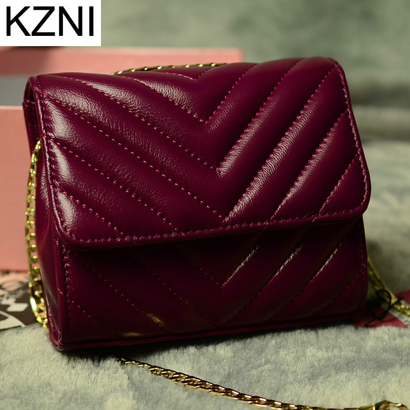 KZNI Genuine Leather Purse Crossbody Shoulder Women Bag Clutch Female Handbags Sac a Main Femme De Marque 2040 kzni genuine leather purse crossbody shoulder women bag clutch female handbags sac a main femme de marque l123103