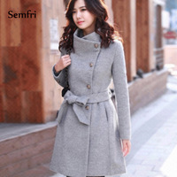 Semfri  Women Coats Winter Jacket Korean Long Coat Female Thick Casaco Womens Outwear Feminino  Abrigos Mujer Invierno 2019