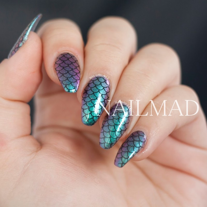 1 sheet Fish Scale Nail Water Decals Scale Transfer Decals Flowers Nail Art  Sticker Tattoo Decals-in Stickers & Decals from Beauty & Health on ... - 1 Sheet Fish Scale Nail Water Decals Scale Transfer Decals Flowers