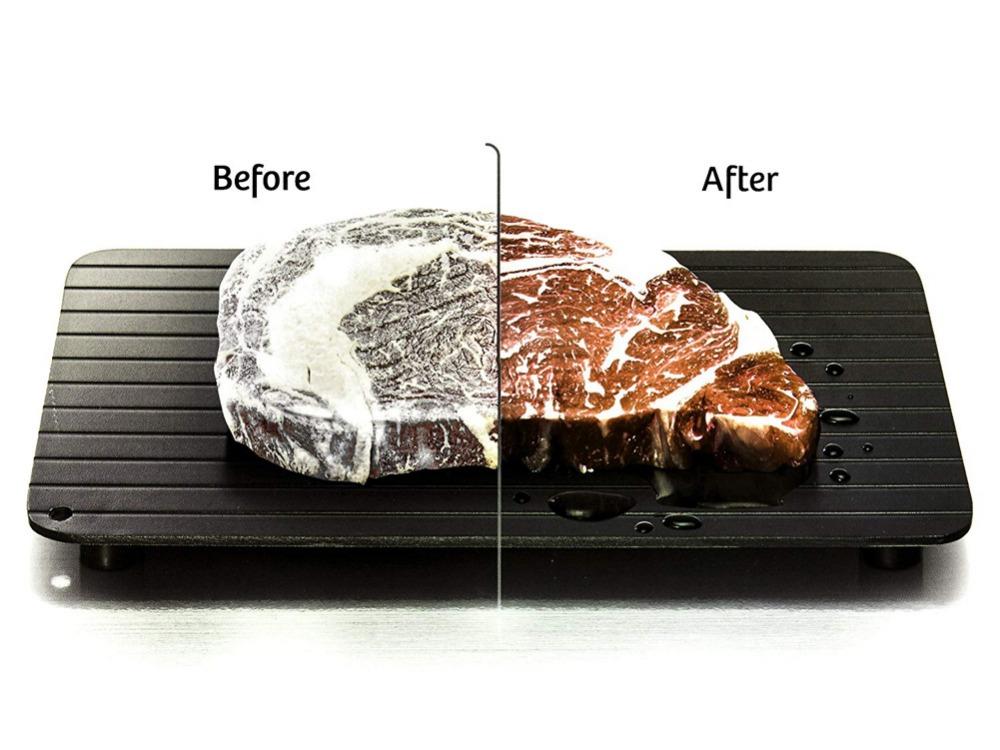 Meijuner Fast Defrosting Tray Thaw Frozen Food Meat Fruit Quick Defrosting Plate Board Defrost Kitchen Gadget Tool 4