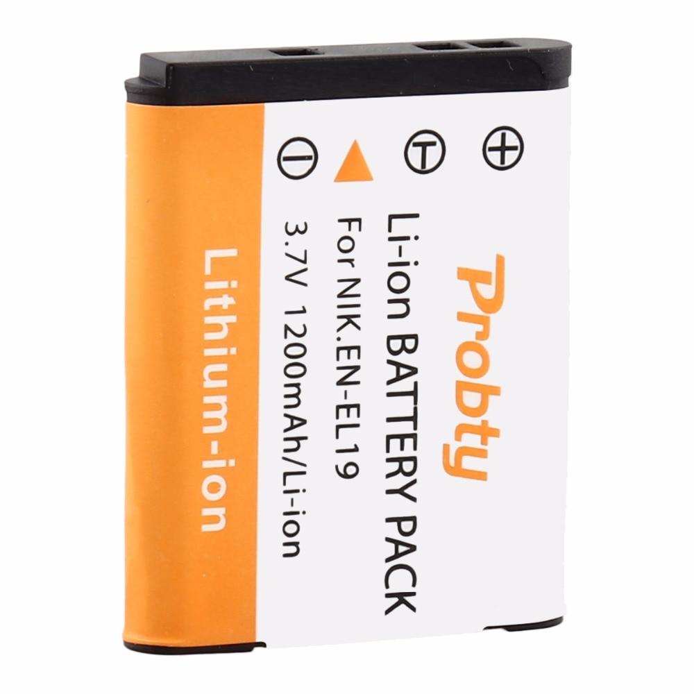 PROBTY ENEL19 EN-EL19 Battery For Nikon Coolpix S32 S33 S100 S2500 S2750 S3100 S3200 S3300 S3400 S3500 S4100 S4150 S4200
