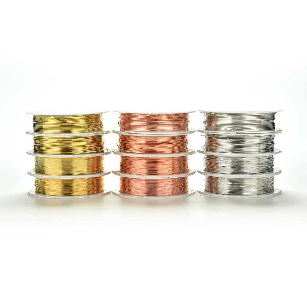 DIY важно украшения шнура 0,3-0,8 мм красный цвета: золотистый, серебристый цвет металлическая нить Строка из бисера Веревка Бисероплетение Ремесло Провода fit маркировки ювелирных изделий