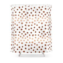 CHARM HOME Rose Gold Modern Polyester Fabric Bathroom