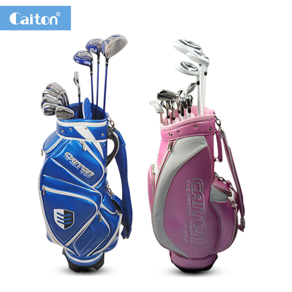 Caiton Unisex golf clubs complete set with golf bag Carbon fiber shaft For junior and mid level golfers(11 Piece)