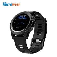 Получить скидку Microwear H1 Смарт-часы Водонепроницаемый MTK6572 4 ГБ WI-FI GPS 3G SIM SmartWatch телефон bluetooth сердечного ритма трекер Android IOS камера