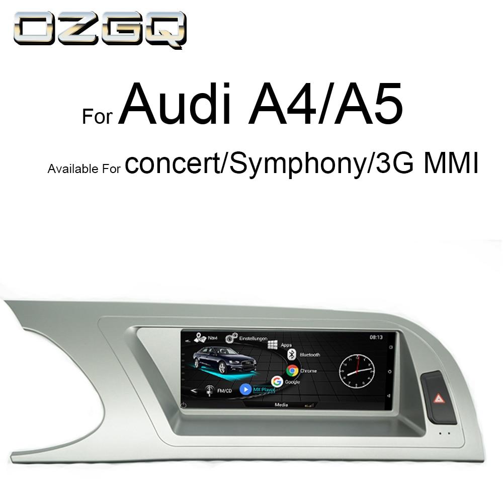 OZGQ Android IPS сенсорный экран автомобильный монитор аудио мультимедиа для Audi Concert Symphony 3G MMI 2009 2016 A4 B8/S4/A5/S5 навигация