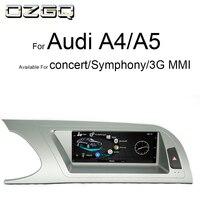 OZGQ Android ips Сенсорный экран монитор автомобиля аудио мультимедиа для Audi концертная симфония 3g MMI 2009 2016 A4 B8/S4/A5/S5 навигации