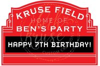 Custom Baseball Marquee Birthday Red photography studio background High quality Computer print party backdrops