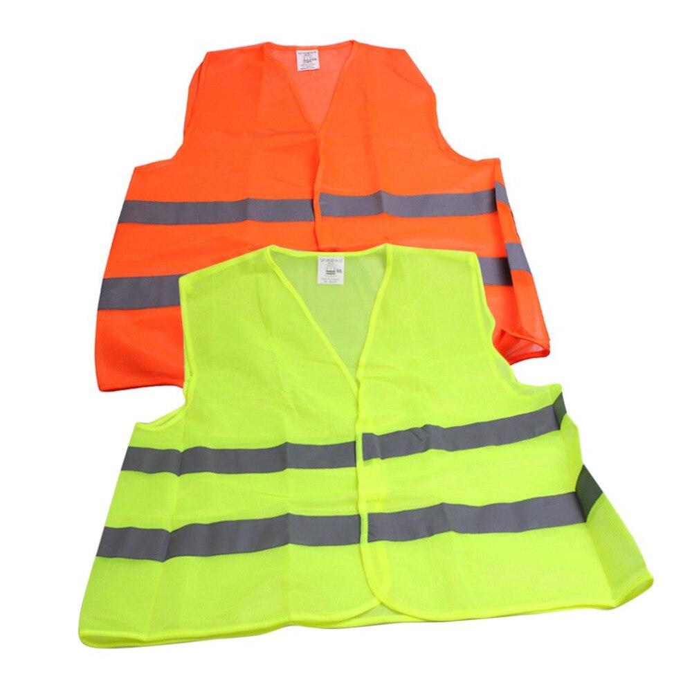 New High Reflective Safety Working Vest Unisex Men Women Breathable Warning Vest Reflective Stripe Traffic Warning Tank Tops