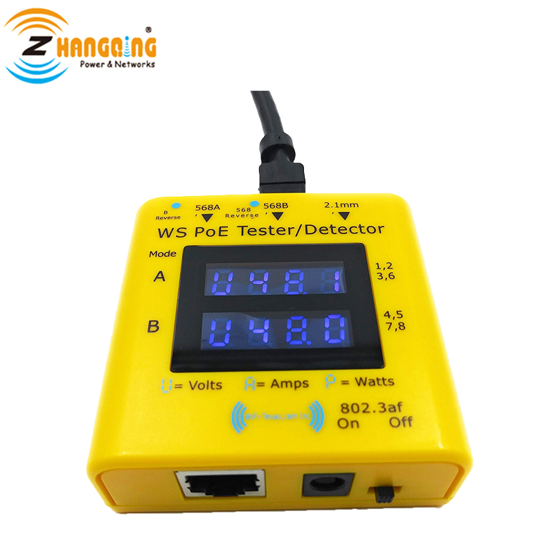 PoE Tester Display the Power Used, Voltage Available, and Current Flowing, Inline Voltage and Current Tester In Networking ToolsPoE Tester Display the Power Used, Voltage Available, and Current Flowing, Inline Voltage and Current Tester In Networking Tools