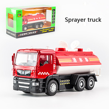 KIDAMI 1:50 Engineering vehicle Alloy Pull Back Diecast Model Car  toys for children Gift with sound light Collection toy