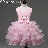 Prenses Çiçek Kız Elbise Düğün 2016 Ruffles Topu Törenlerinde Elbise Kız İlk Communion elbise Kız Çocuk Gelinlik Modelleri