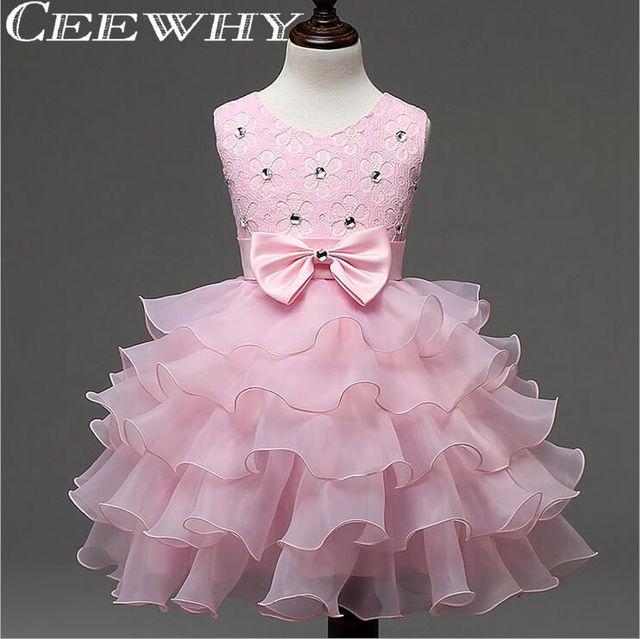 78acad5c6f0 Princess Flower Girl Dresses For Weddings 2016 Ruffles Ball Gowns Dress Girl  First Communion Dresses for Girls Kids Prom Dresses