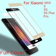 Full Display Cowl Coloration Tempered Glass For Xiaomi Mi4 Mi6 MAX 2 word Mi5 Mi5S Plus Redmi Professional Display Protector Protecting Movie