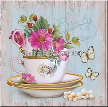 5D Diamond Painting Teapot Flower Cross Stitch Kits Embroidery Mosaic Home Decoration