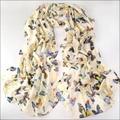 Women Butterfly Scarf Summer 2016 Foulards Femme Bohemia Bandana Silk Chiffon Scarf Women Pashmina Shawls Scarves Wraps