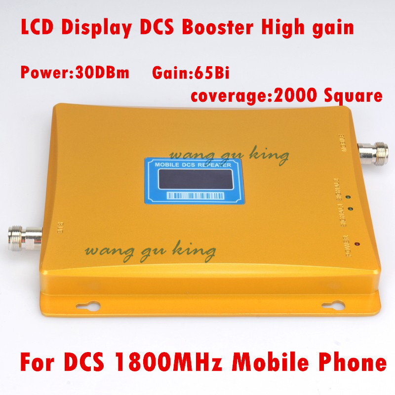 LCD Display 2016 New Model DCS 65dBi 1800MHz Mobile Signal Repeater DCS Booster Amplifier Extender Coverage 2000m2