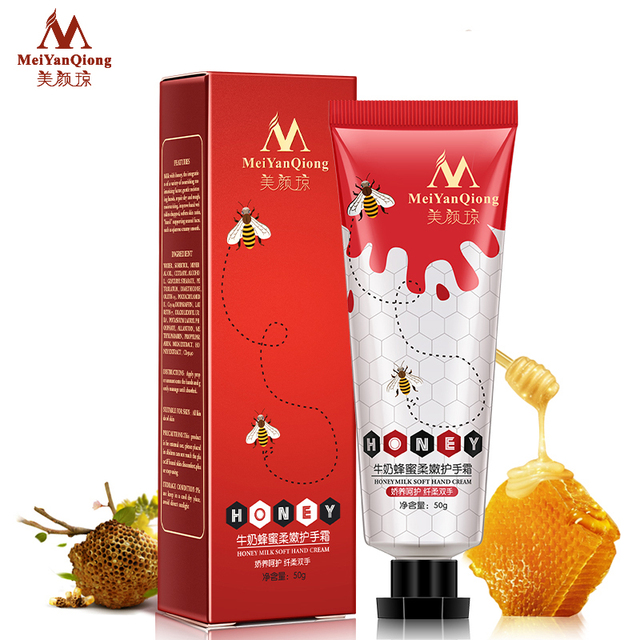 Milk Honey Repair Hand Cream Moisturizing Anti-Aging Skin Whitening Hand Cream Skincare Nourishing crema de manos Winter 1