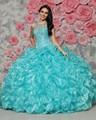2016 Baratos Azul Real Vestidos de Quinceañera Durante 15 Años Ruffles con gradas Moldeado Del Organza Barato Vestido de 15 Anos Dulce 16 vestido