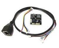 Вход 44-В 57 в 38*38 мм cctv ip камера POE модуль печатной платы Выход DC 12 В в для IPC с POE кабель