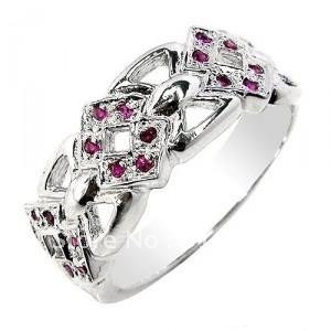 Natural ruby ring with 925 sterling silver earrings, Natural ruby jewelry
