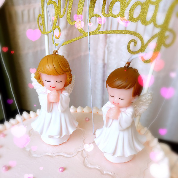 Childrens Party Wedding Supplies Birthday Candle White Angel Candle