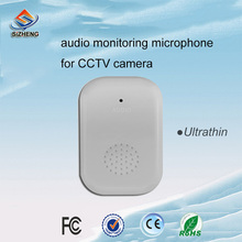 FREE SHIPPING-CCTV Microphone Security Sound Pickup Wide Range For CCTV Cameras DVR Systems