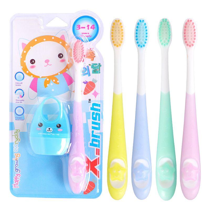 Kinder Baby Zahnbürste Cartoon Stern Griff Weichen Bürste Haar Mundpflege Mini Nette Bleistift Spitzer Kinder Geschenk