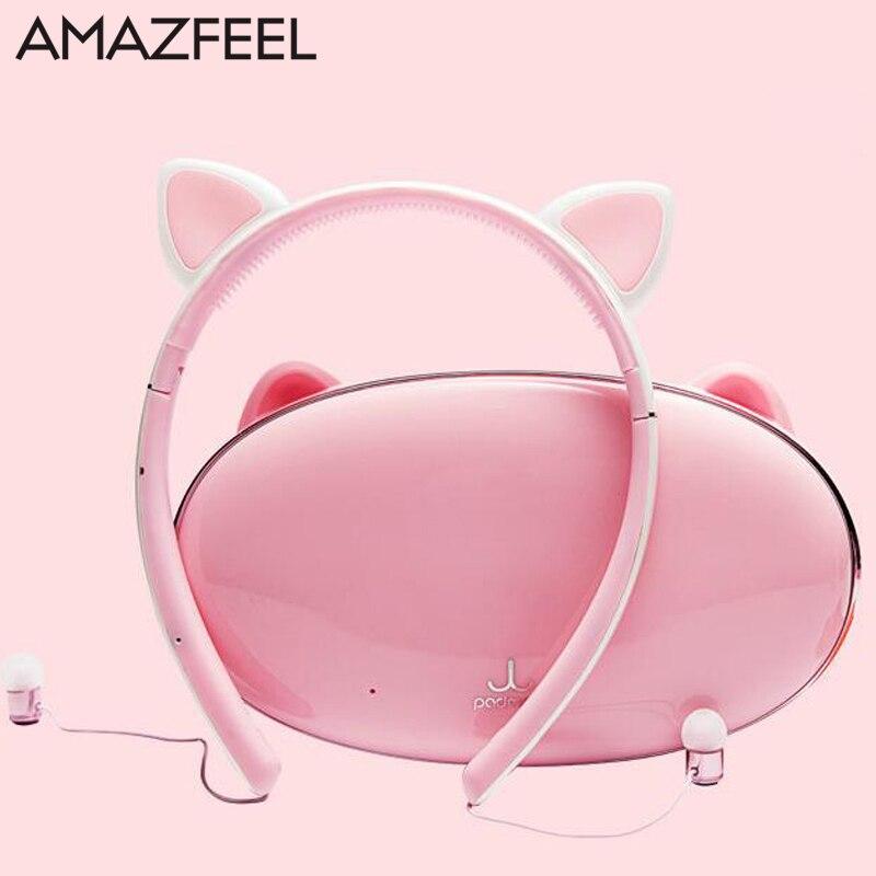 Bande de cheveux Bluetooth sans fil chat oreille casque de jeu casque écouteur avec lumière LED pour PC ordinateur portable téléphone portable