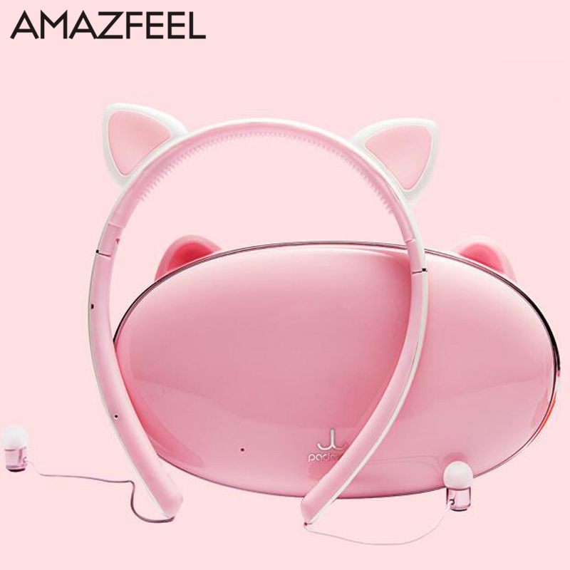 Hair Band Bluetooth Wireless Cat Ear Headphones Gaming Headset Earphone with LED light For PC Laptop Computer Mobile Phone