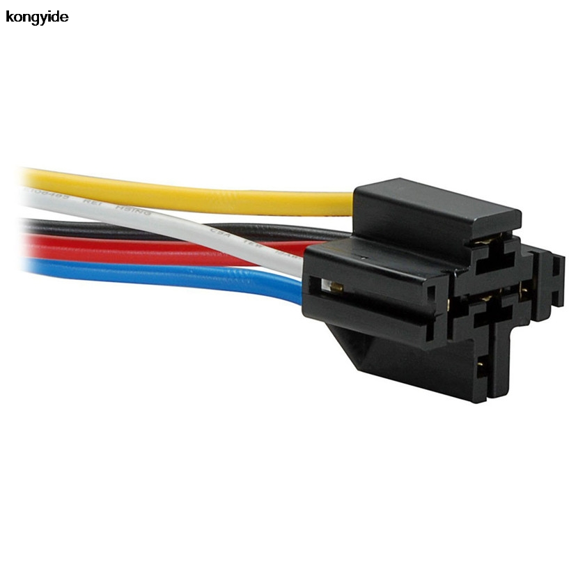 Car Styling 5 Pin Cable Wire Relay Socket Harness Connector Dc 12v For Auto Car May 25 2