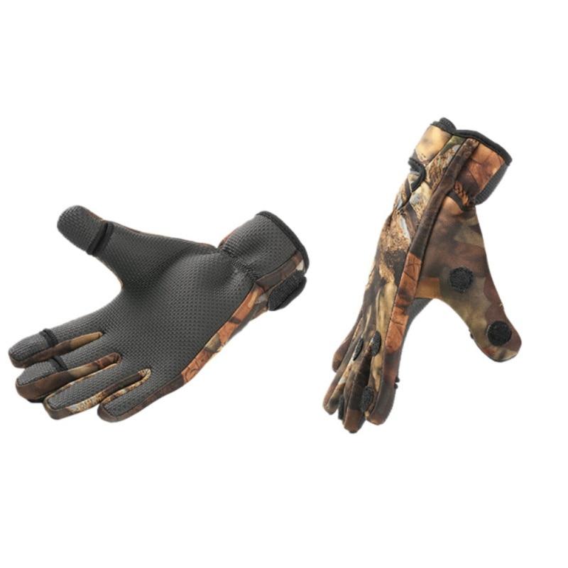 Sport Leather Keep Warming Fishing Gloves Breathable Anti-Slip Glove Neoprene Fishing Equipment Equipamento De Pesca недорго, оригинальная цена