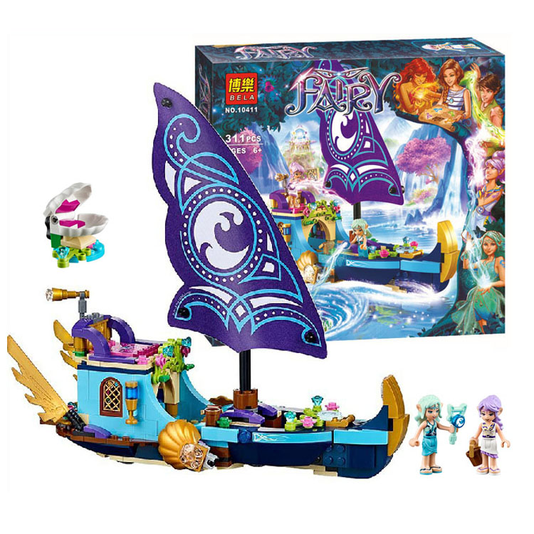 Lepin Pogo Bela 311pcs 10411 Naida's Epic Adventure Ship Girls Friends Building Blocks Bricks Compatible Legoe Toys wi fi роутер zyxel keenetic giga iii