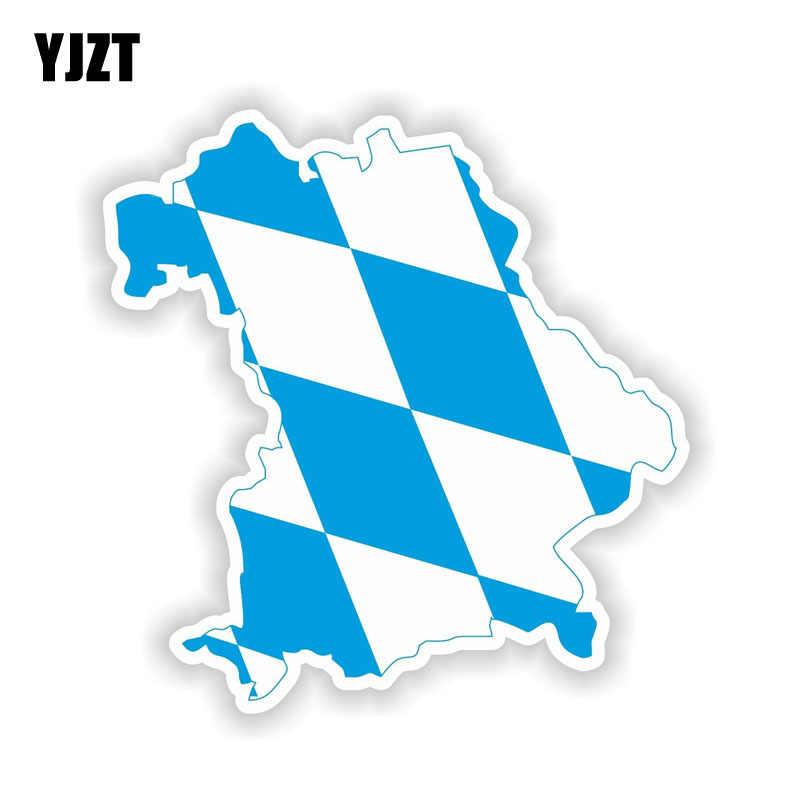 "YJZT 14 ס""מ * 14.4 ס""מ רכב מדבקת בוואריה Freistaat באיירן מפת דגל מדבקות רעיוני אביזרי 6-1528"