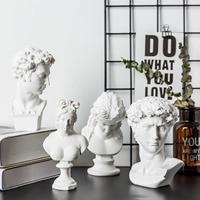 Modern Minimalist David Statue Small Plaster Resin Decorative Sculpture Photography Posing Props
