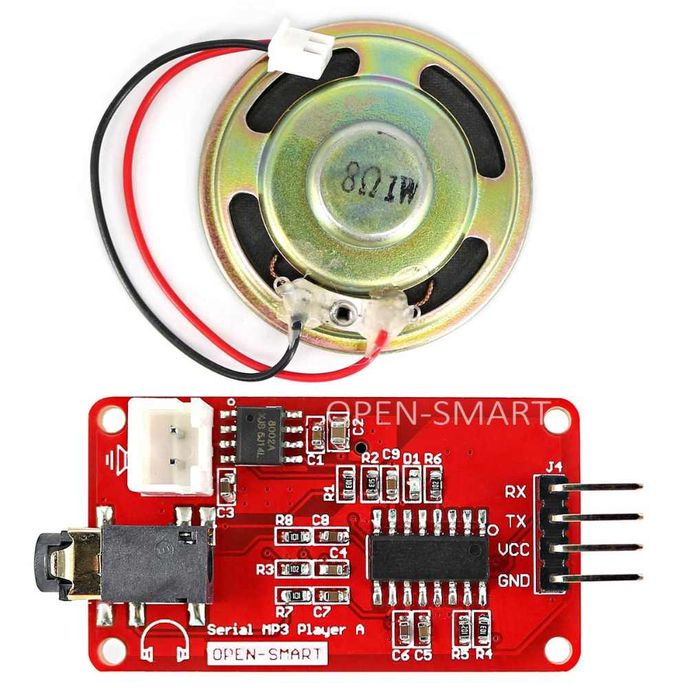 UART Serial MP3 Music Player Module with 1W Speaker for