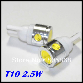 Free Shipping T10 led light Car LED High Power t10 2.5W 194 168 W5W Side Width Lamp Light Bulb wholesale price