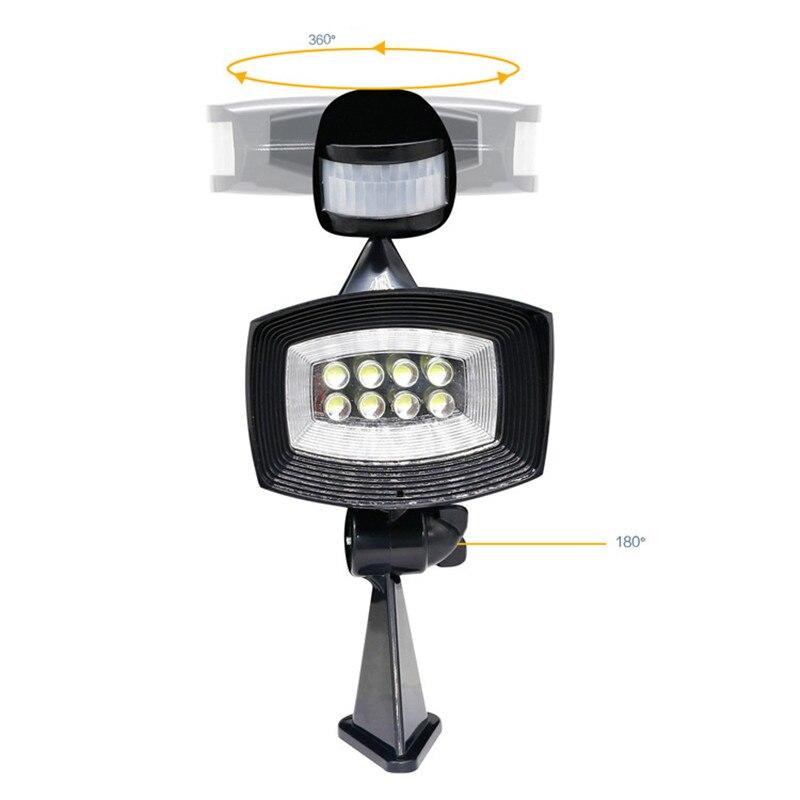 LED Solar Panel Body Sensor Super Bright Spot Light Home Wall Street Lamp Infrared Energy Saving Garland Emergency Lighting ds 360 solar sensor led light black