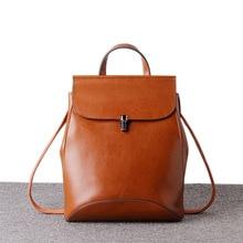 Новое поступление 2017 года Пояса из натуральной кожи рюкзак Для женщин Ретро сумка для путешествий Рюкзаки подростков Обувь для девочек Школьные Сумки Подростков Сумка