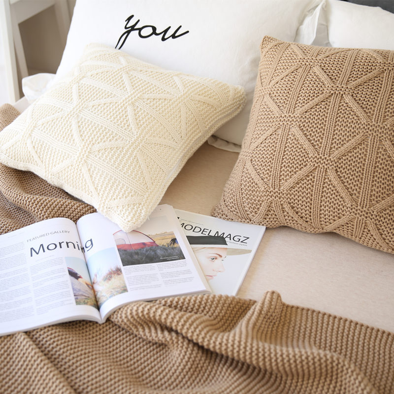 European Knitted Wool Pillow Case Solid Waits Bedroom Decorative Pillows  Capa Square Throw Pillows Cover In Pillow Case From Home U0026 Garden On  Aliexpress.com ...