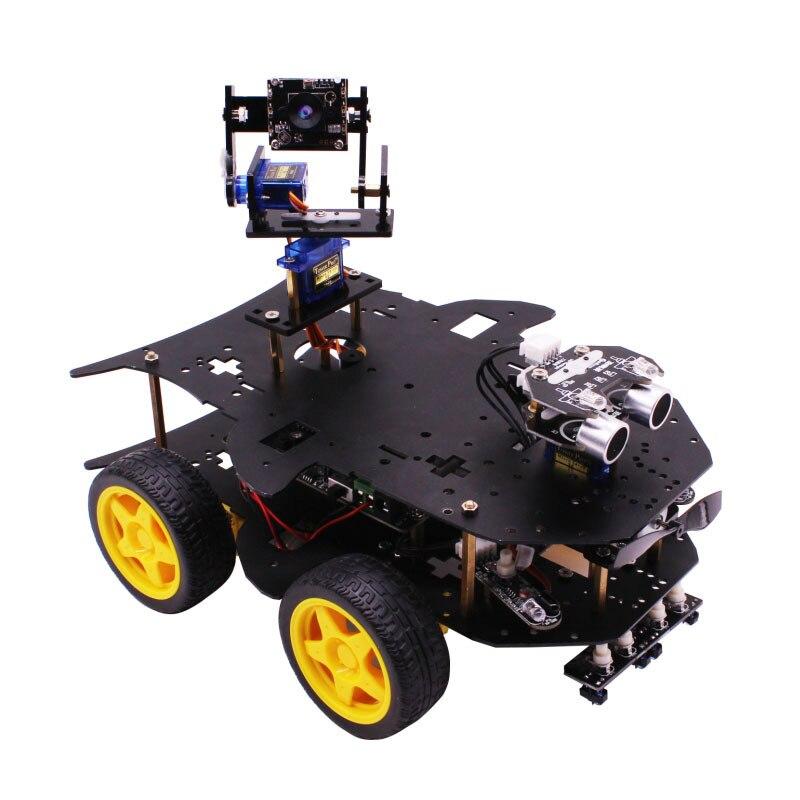 Yahboom 4WD inteligentny robota RC samochód inteligentny samochód z WIFI kamery dla Raspberry Pi 3B + w Samochody RC od Zabawki i hobby na  Grupa 2