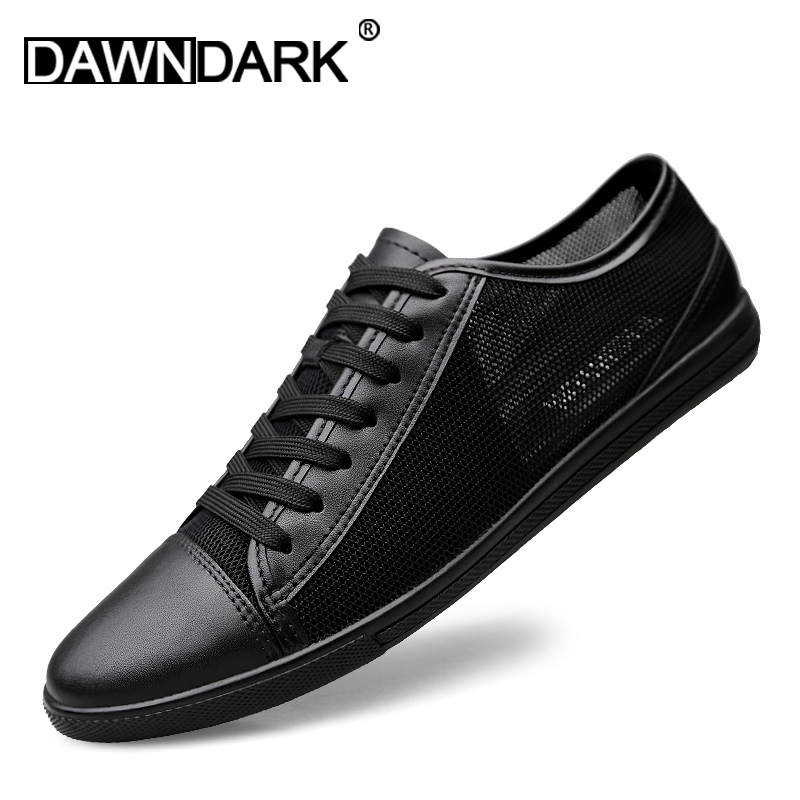 Mens Leather Casual Shoes Classic Fashion Male Lace Up Flats Black White Men Krasovki Breathable Tenis Masculino Plus SizeMens Leather Casual Shoes Classic Fashion Male Lace Up Flats Black White Men Krasovki Breathable Tenis Masculino Plus Size