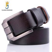 FAJARINA Quality 38mm Simple Clasp Buckle Design Fashion Retro Belts Men Jeans Geunine Leather Belts for Charming Men N17FJ112