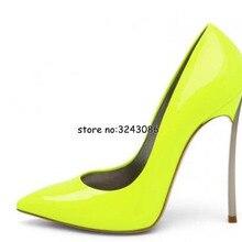 Women Pointed Toe Pumps Blade Metal High Heels Red Beige Stiletto Court Heeled 1